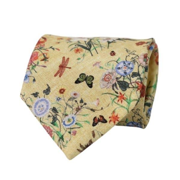 Amanda Christensen tie floral pastel yellow