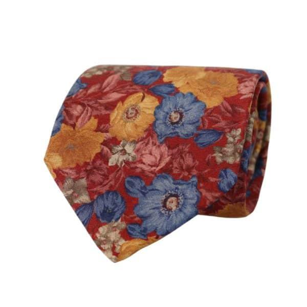 Amanda Christensen tie floral red