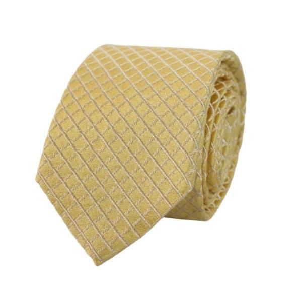 Armani Collezioni Diamond Quilt Tie Yellow