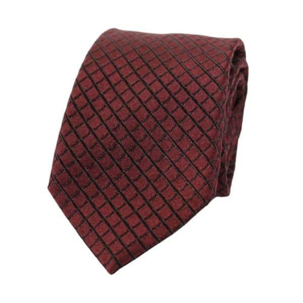 Armani Collezioni Diamond Quilt Tie red