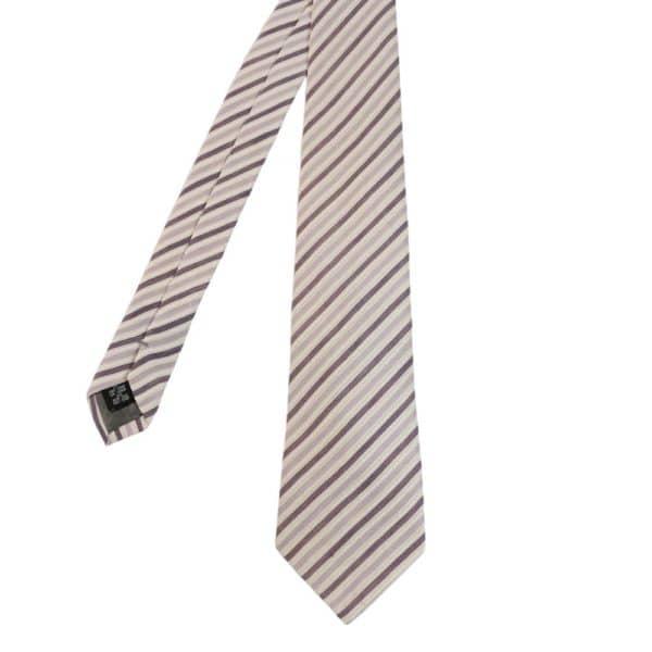 Armani Collezioni Digonal Stripes Lilac ties