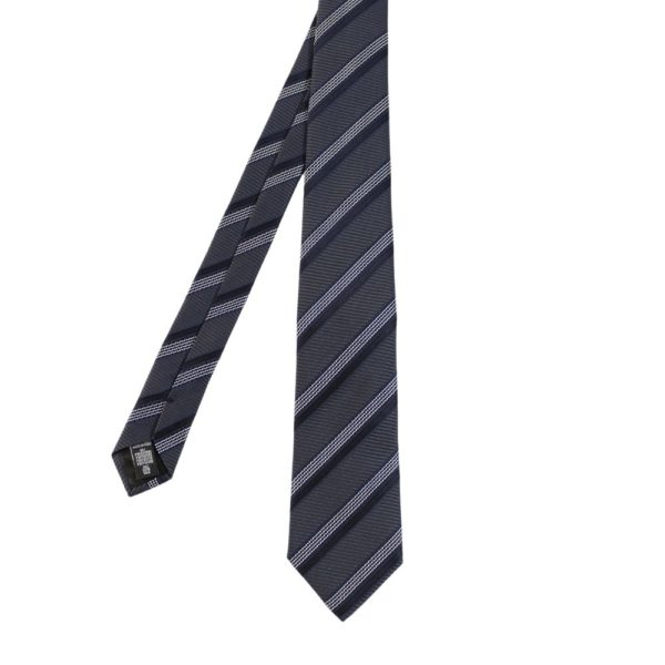 Armani Collezioni Regimental stripe navy white tie