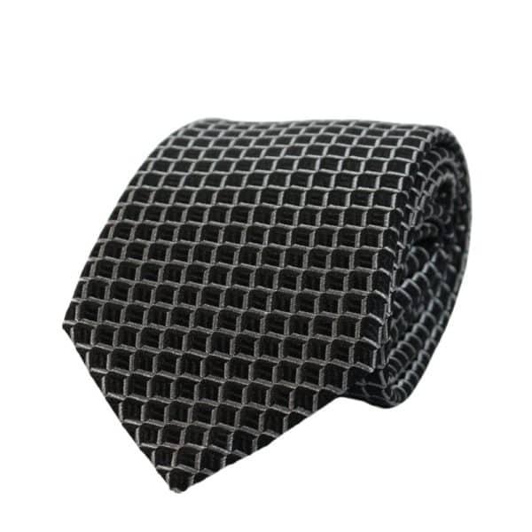 Armani Collezioni Scales Knit Tie Black