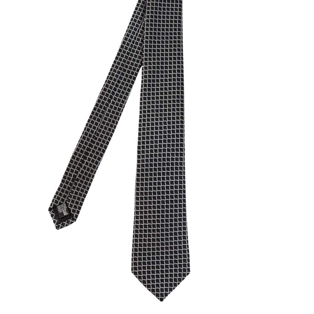 Armani Collezioni Scales Knit Tie Black main