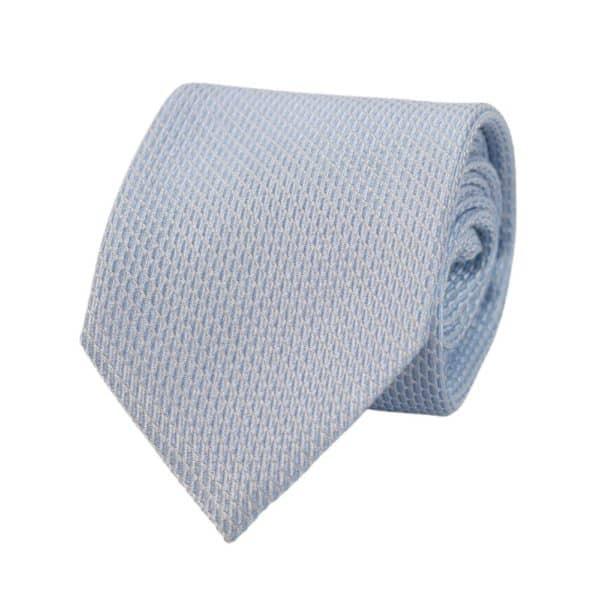 Armani Collezioni Solid Texture Tie Light Blue