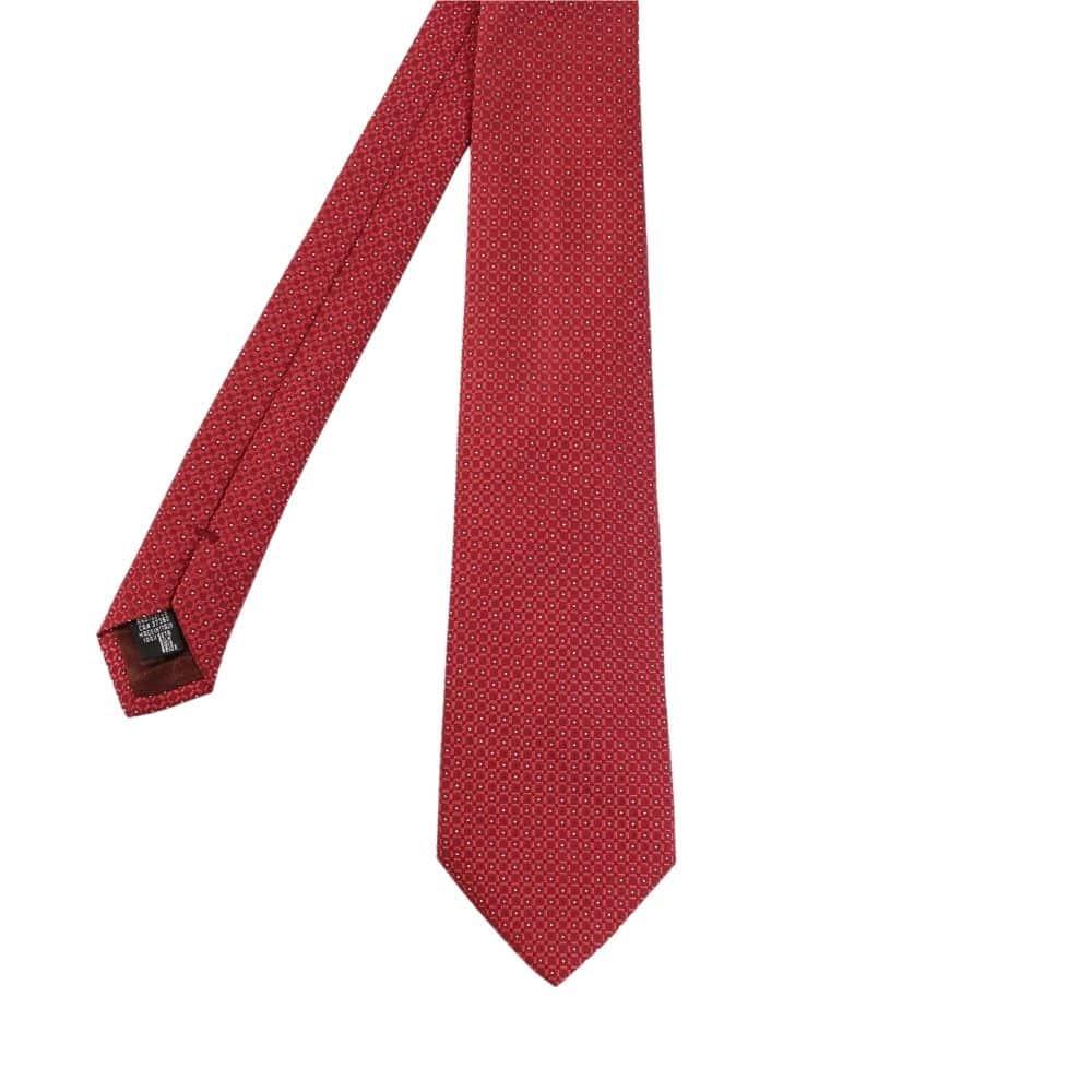 Armani Collezioni Square Knit with Dots Tie red main