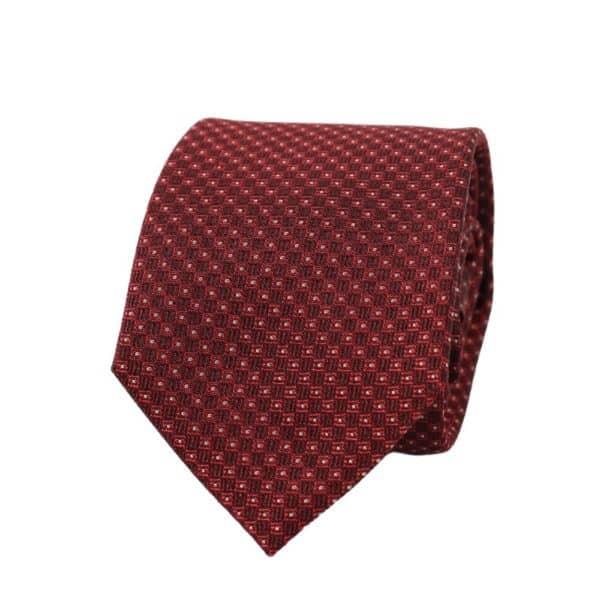 Armani Collezioni Squares with Dots tie crimson red