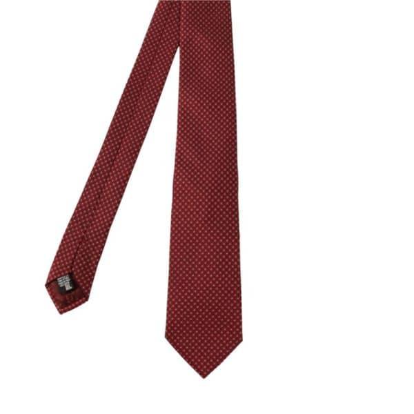 Armani Collezioni Squares with Dots tie crimson red main