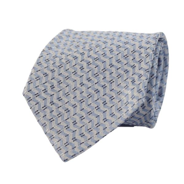 Armani Collezioni diagonal wave Tie light blue