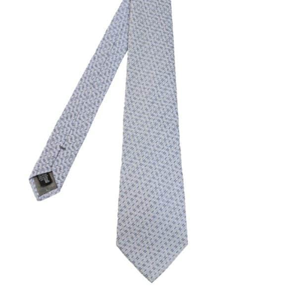 Armani Collezioni diagonal waveTie light blue knit