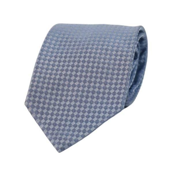Armani Collezioni diamond knit Tie Light Blue
