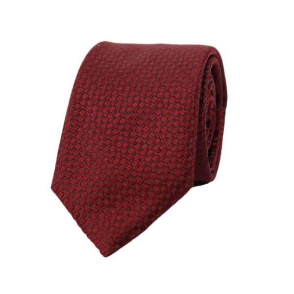 Armani Collezioni diamond knit Tie red