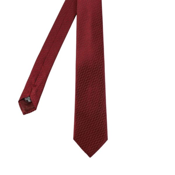 Armani Collezioni diamond knit Tie red main