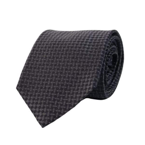 Armani Collezioni diamond knit tie black