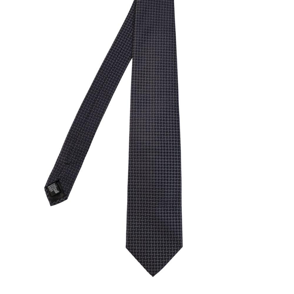 Armani Collezioni diamond knit tie black main