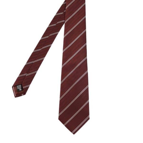 Armani Collezioni regimental stripe tie red main
