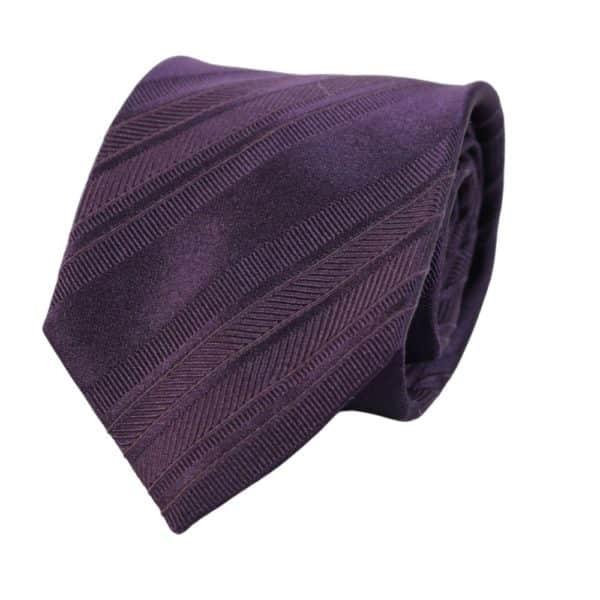 Armani Collezioni regimental tonal stripe tie purple