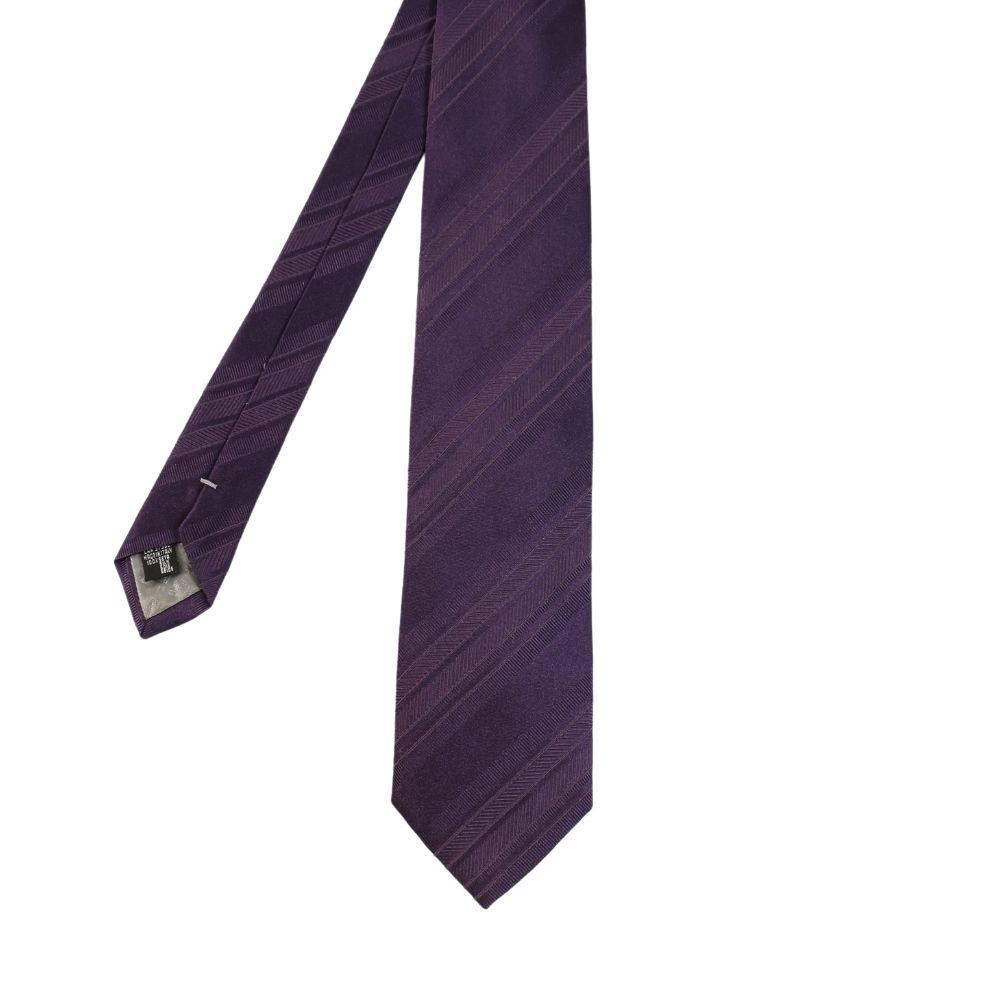 Armani Collezioni regimental tonal stripe tie purple main