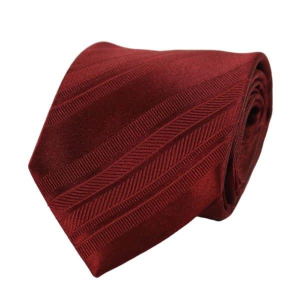 Armani Collezioni regimental tonal stripe tie red