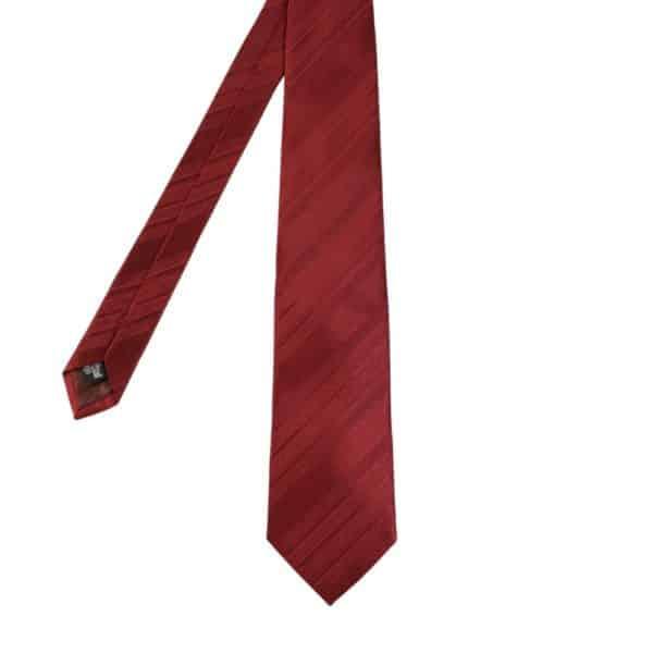 Armani Collezioni regimental tonal stripe tie red main