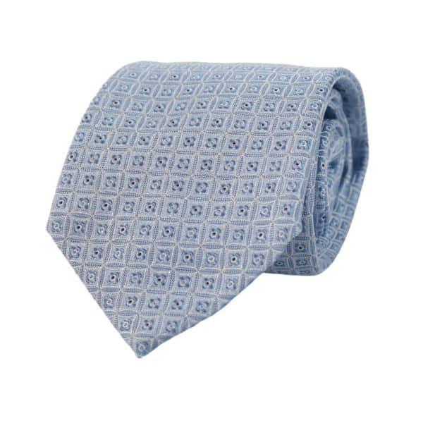 Armani Collezioni squares Tie light blue