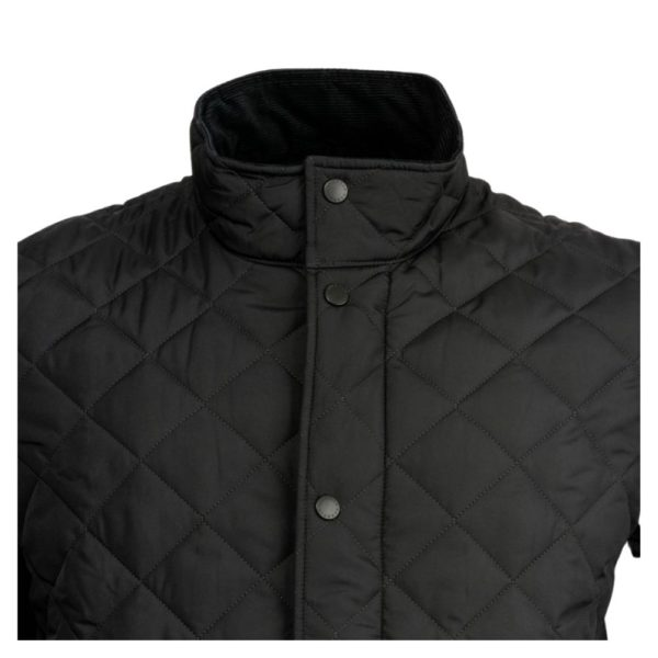 Barbour Chelsea Quilted Navy Neck