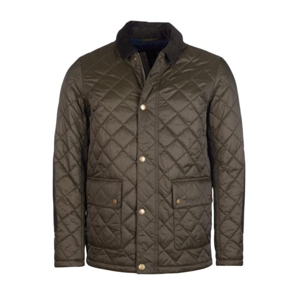 Barbour Diggle Olive Front