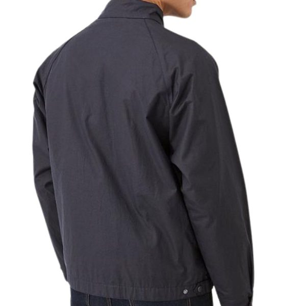 Barbour Ender Wax Navy Back 1
