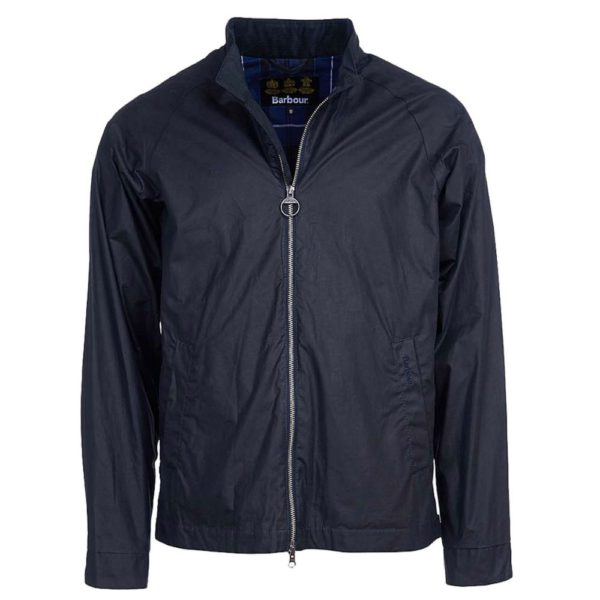 Barbour Ender Wax Navy Front 1