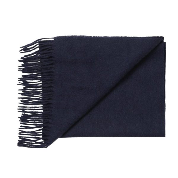 Barbour Navy Scarf Folded