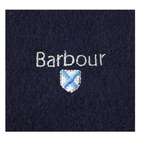 Barbour Navy Scarf Logo