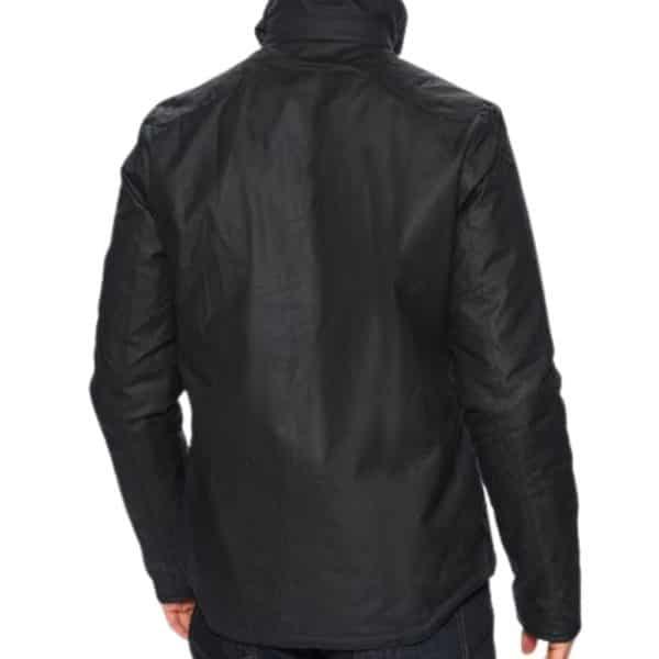 Barbour Reelin Wax Jacket Navy Rear
