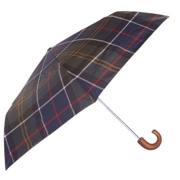 Barbour Tartan Umbrella Open
