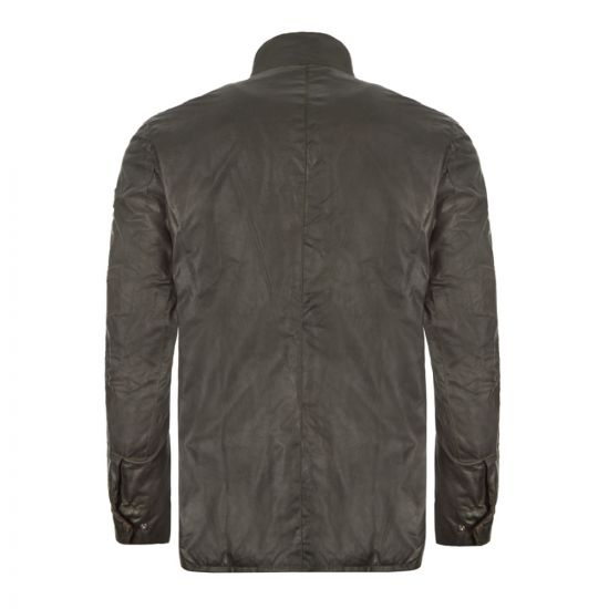 Barbour Wax Jacket Duke Sage Back