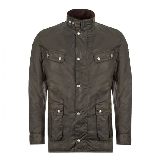 Barbour Wax Jacket Duke Sage Front