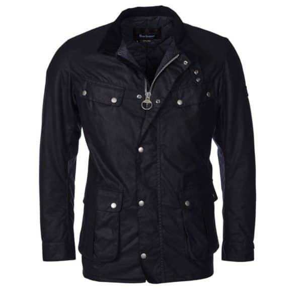 Barbour Wax Jacket Navy Front