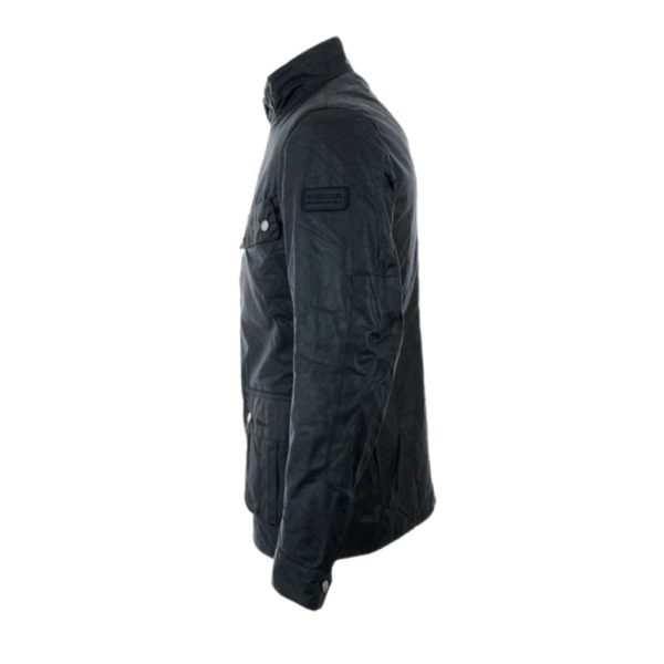 Barbour Wax Jacket Navy Side