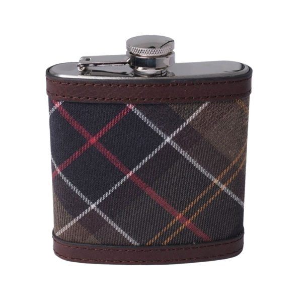 Barbour hip flask front