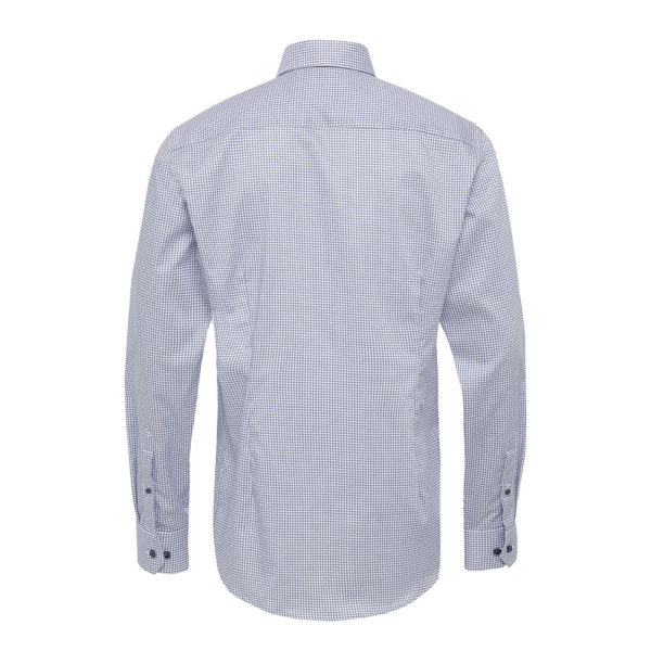 Blue micro flower shirt back