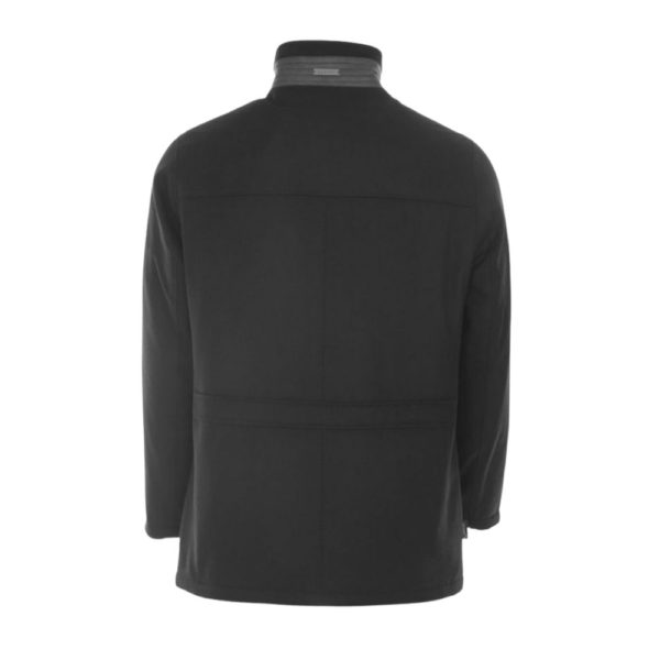 Bugatti Jacket Charcoal Back