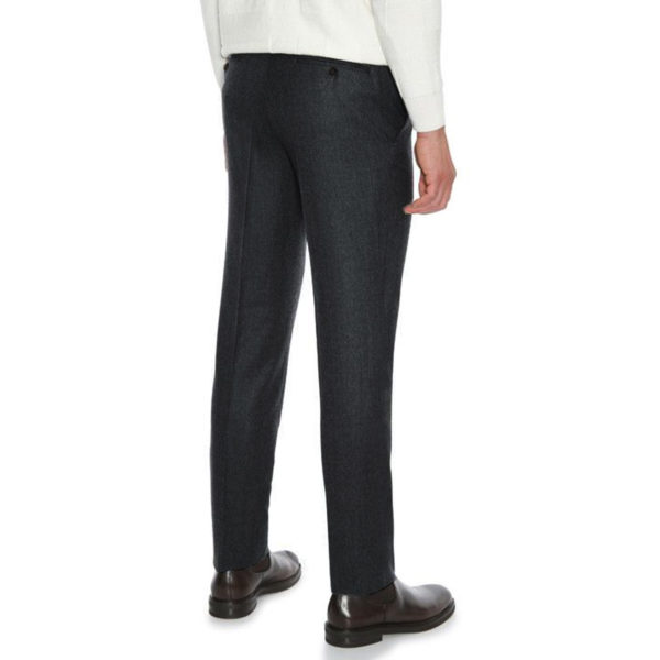 CANALI FORMAL WOOL TROUSERS IN CHARCOAL back
