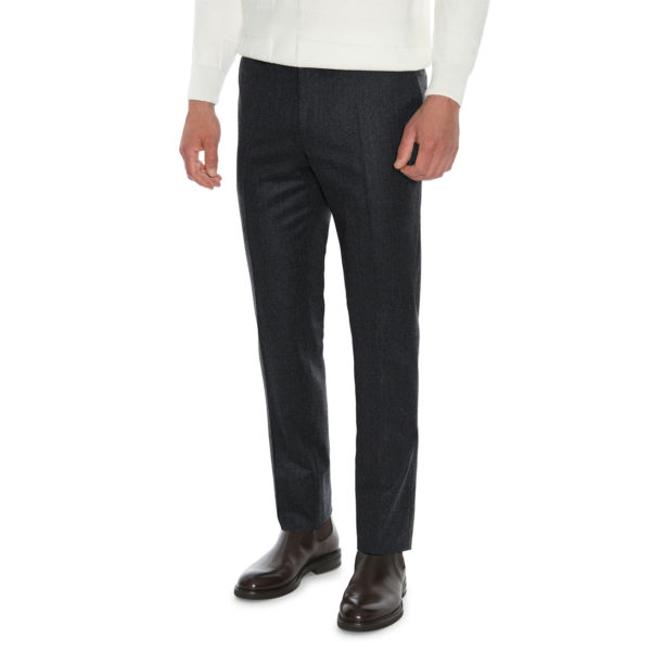 CANALI FORMAL WOOL TROUSERS IN CHARCOAL front