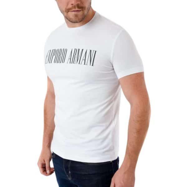 EMPORIO ARMANI LOGO WHITE T SHIRT