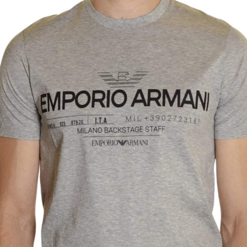 EMPORIO ARMANI LOGO WHITE T SHIRT2