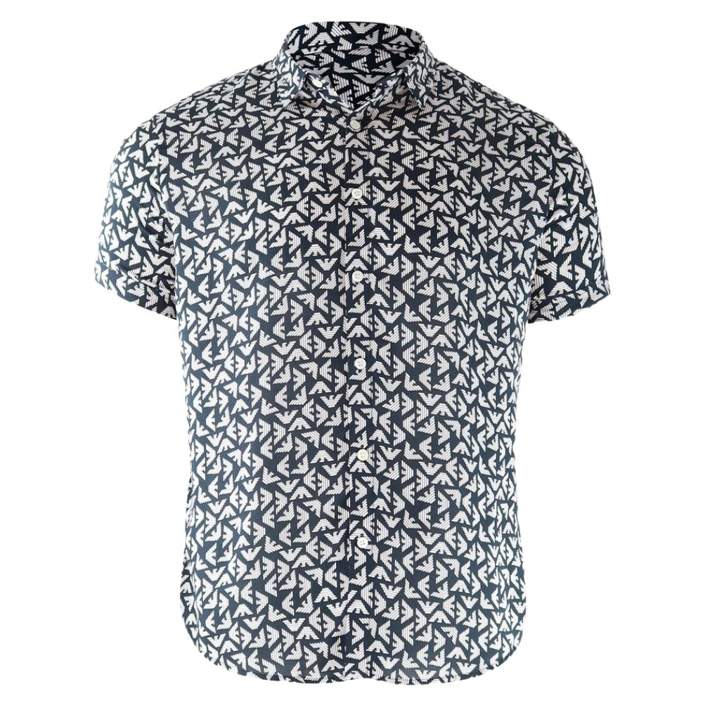 EMPORIO ARMANI SHORT SLEEVE ALL OVER PATTERN 1