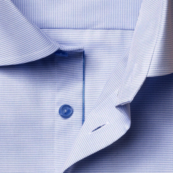 ETON shirt Blue and White Twill collar