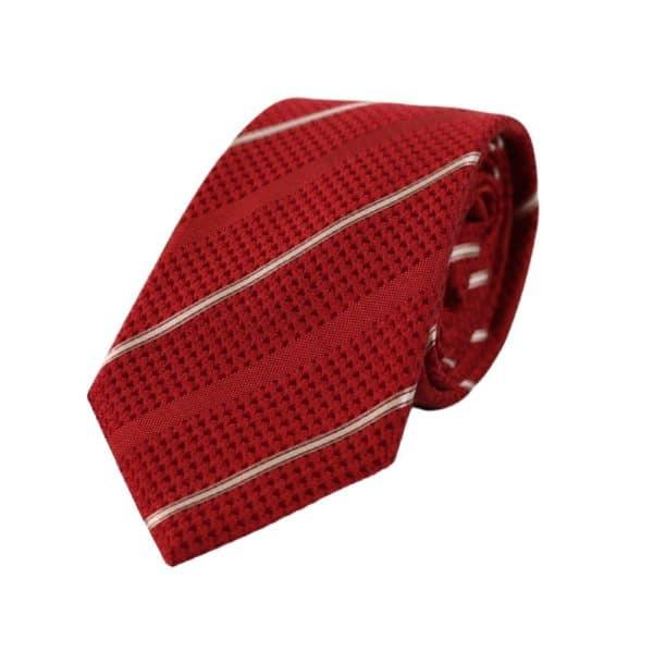 Emporio Armani Alternating Tie Red