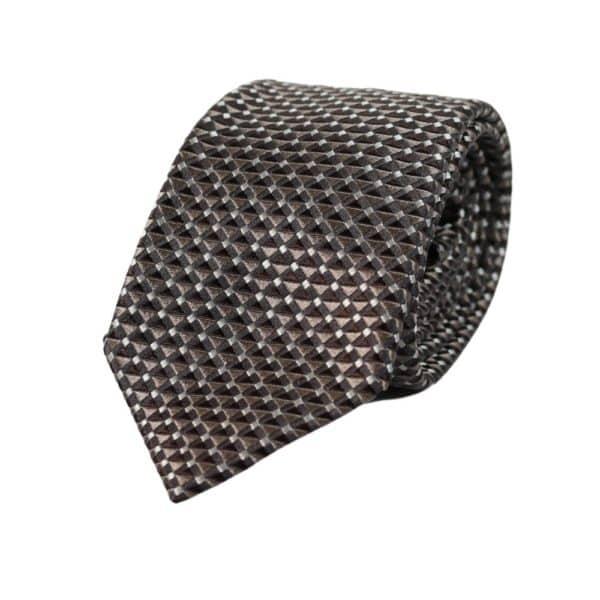Emporio Armani Triangle knit Tie Silver