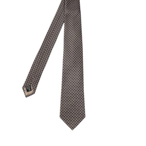 Emporio Armani Triangle knit Tie Silver main