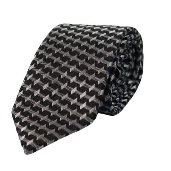 Emporio Armani barbed stripe tie